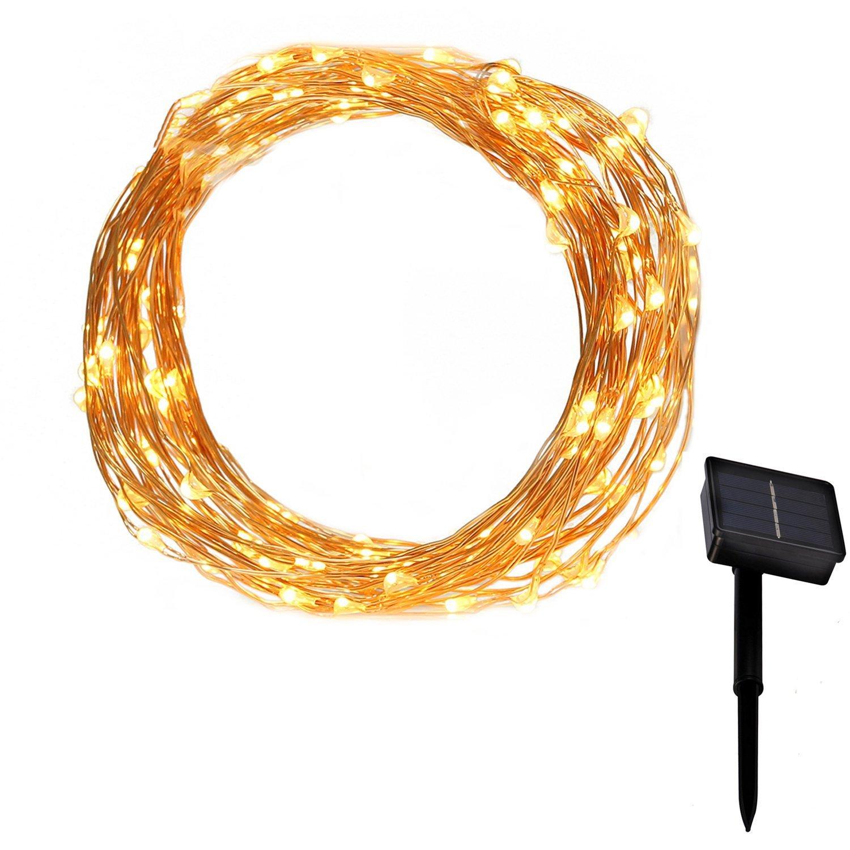 Micro LED Lichterkette Solar KingTop 10m Solar Lichterkette ...