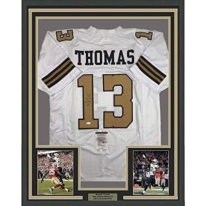 4f312207 Image Unavailable. Image not available for. Color: Framed Autographed/Signed  Michael Thomas 33x42 New Orleans Color Rush Football Jersey JSA COA