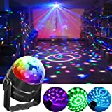 Luci Discoteca LED, SOLMORE Mini Luci da Palco Attivazione Vocale palla Lampada Magica LED RGB Effetto Fase Luci di Colore Cristallo Lampada da Discoteca Rotante Sfera Luci Psichedeliche per Festa Compleanno KTV Discoteca bar DJ Magic Ball Cristallo