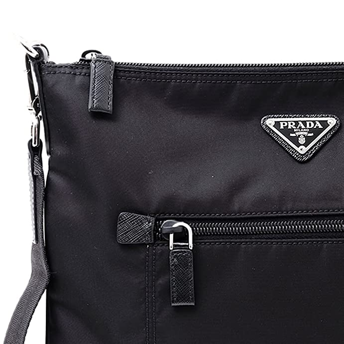 2a5fc5418a483e ... sale amazon prada nylon messenger bag crossbody black 1bh715 messenger  bags 3f14c a8f06