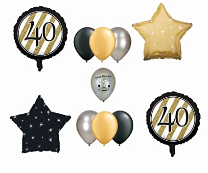 Image Unavailable Not Available For Color Happy 40th Birthday Balloon Decoration Set