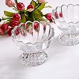 Soogo Glass Ice Cream Bowl Set, 200 ml, 2-Pieces, Transparent
