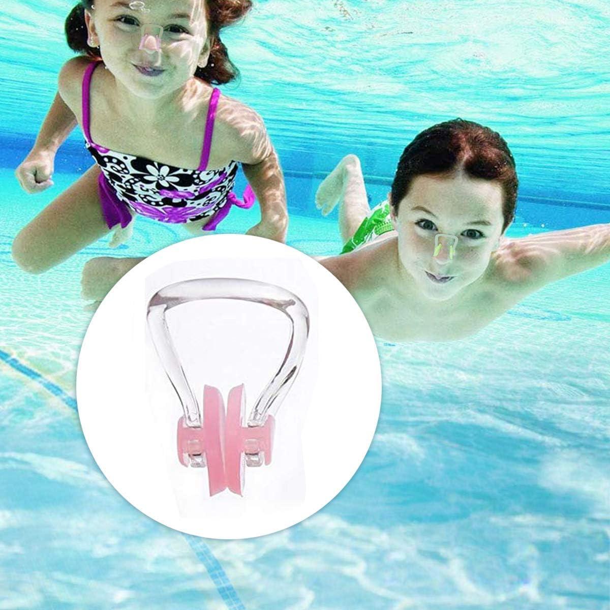 ZARRS Pince-Nez de Natation,10 Pack Silicone Pince Nez Imperm/éable Protecteur de Clip de Nez pour Adultes et Enfants
