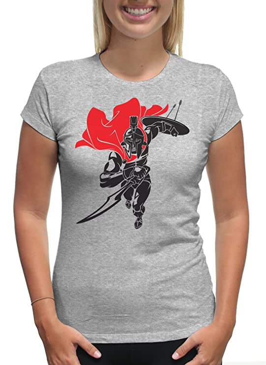 9e14368b Amazon.com: Young Motto Women's Warrior Gladiator T-Shirt: Clothing