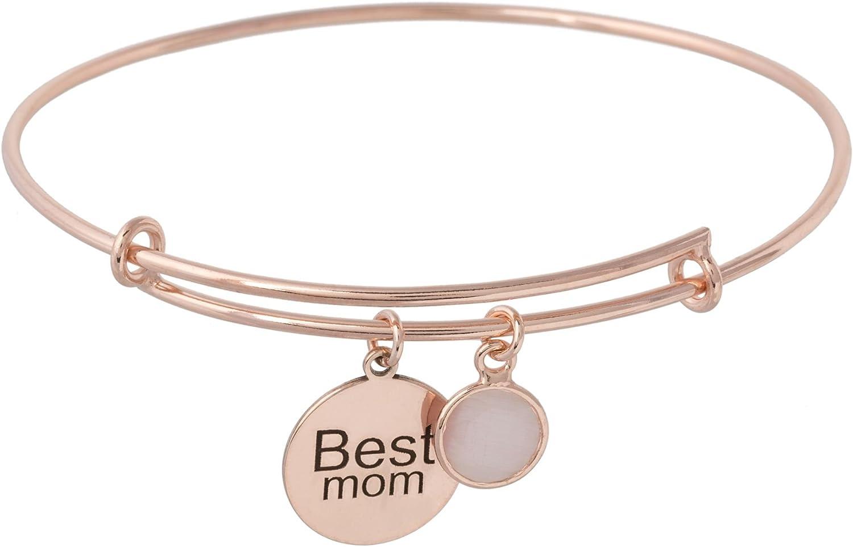 Córdoba Jewels | Pulsera en Plata de Ley 925 bañada en Oro Rosa con diseño Best Mom Rosa