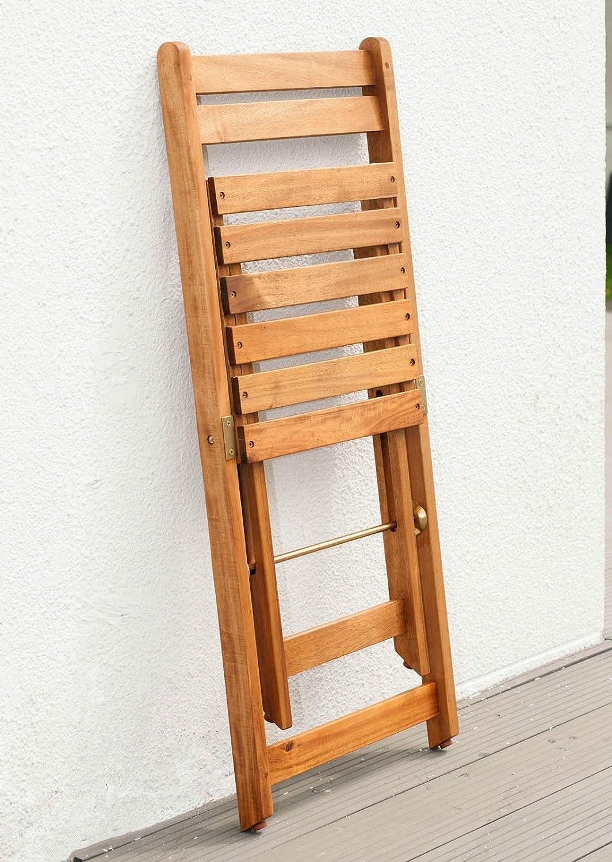 Balkonmobel Set Bali 1 Klapptisch 60 Cm Rund Und 2 Klappstuhle Mit
