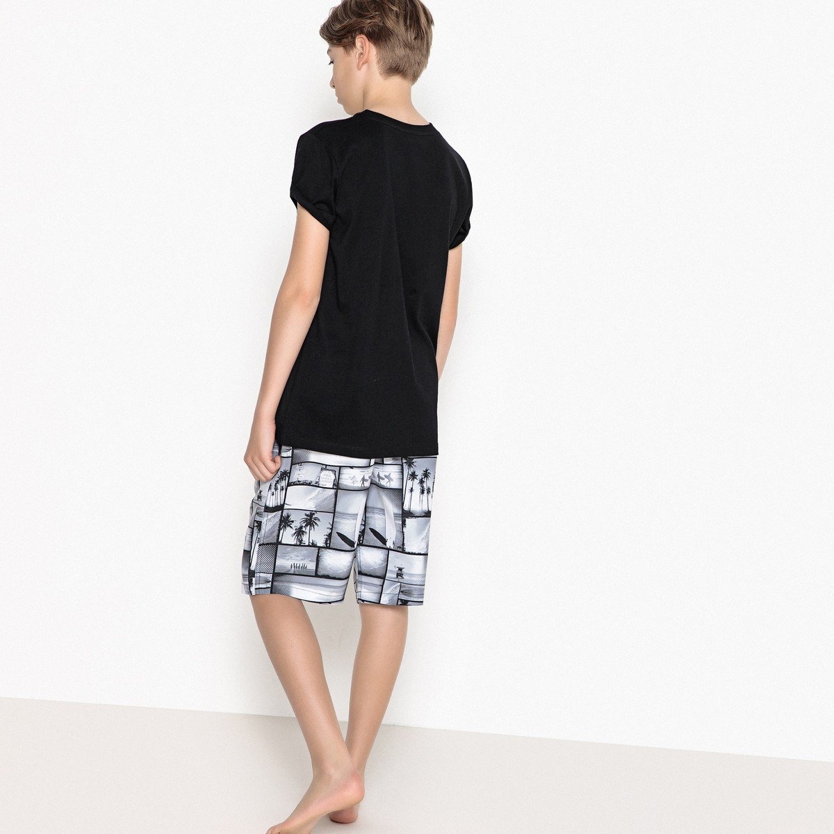 La Redoute Collections Big Boys Printed Boardshorts,10-16 Years