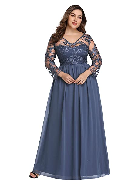 Alisapan Womens Plus Size Lace Mother of The Bride Dress ...