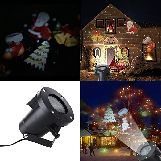 Navidad Proyector Luz, mágico movimiento Proyector LED luces Show ...