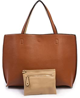 ec71b141618d Amazon.com: Overbrooke Reversible Tote Bag, Black & Sand - Premium ...