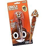 Farting Poop Emoji Pen - Makes 7 Funny Fart Sounds - Cute Smiling Poop Face Emoticon Ballpoint Pens - Talking Joke Toy for Te
