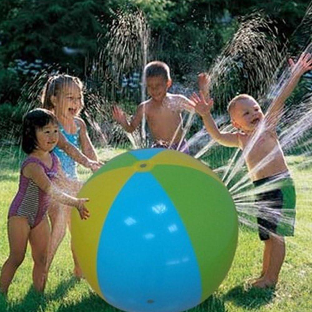 MIERES 054 Bola de Playa con pulverización de Agua, Infantil ...