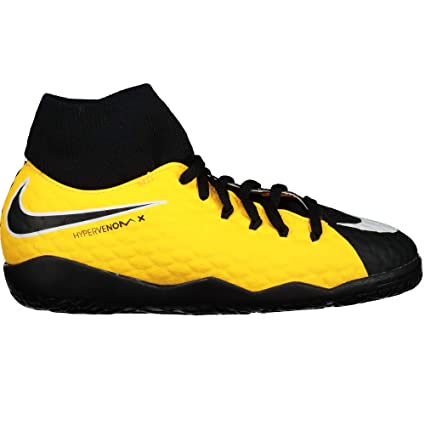 Botines de fútbol de Nike para niños, unisex Botines de fútbol Jr. Hyper Venom X Phelon 3 Dynamic Fit Ic, color LASER ORANGE/BLACK-WHITE-V, tamaño 3 Años: ...