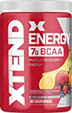 XTEND Energy BCAA Powder Knockout Fruit Punch - 125mg Caffeine + Sugar Free Pre Workout Muscle Recovery Drink with Amino…