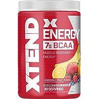 Scivation XTEND Energy BCAA Powder Knockout Fruit Punch | 125mg Caffeine + Sugar...