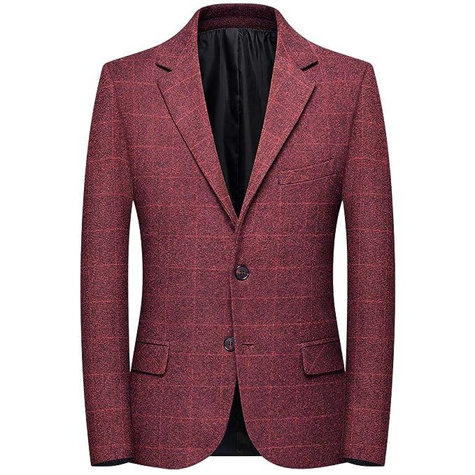 Il Nuovo Vestito Plaid Giacca Button Nero Risvolto Slim Fit