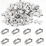 Ohaha 100 pcs 1/16-inch Wire Rope Aluminum Sleeves
