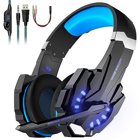 Auriculares para Juegos, KOTION Cascos Gaming Headset para ...