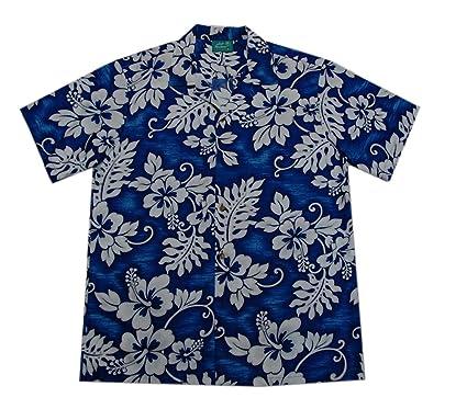f6f8db77ad4ee Jade Fashions Inc. Men Cotton Texture Navy Hibiscus Hawaiian Shirt-Navy-S