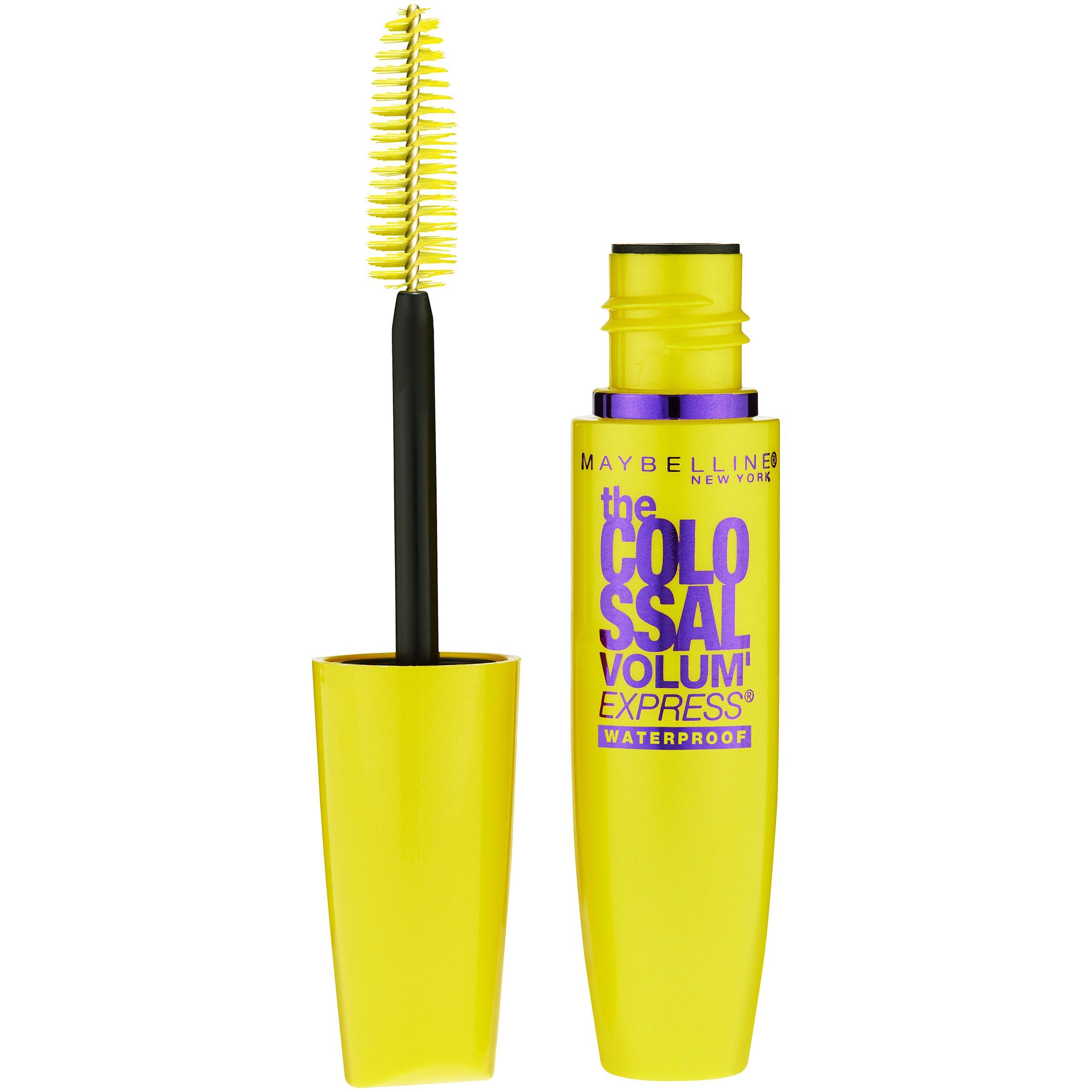 Maybelline Makeup Volum' Express The Colossal Waterproof Mascara, Classic Black Mascara, 0.27 fl oz