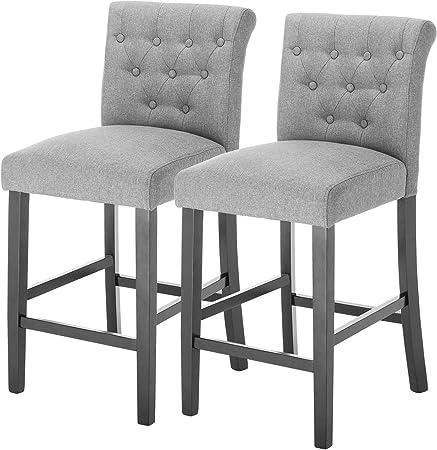 chaise haut de bar gris
