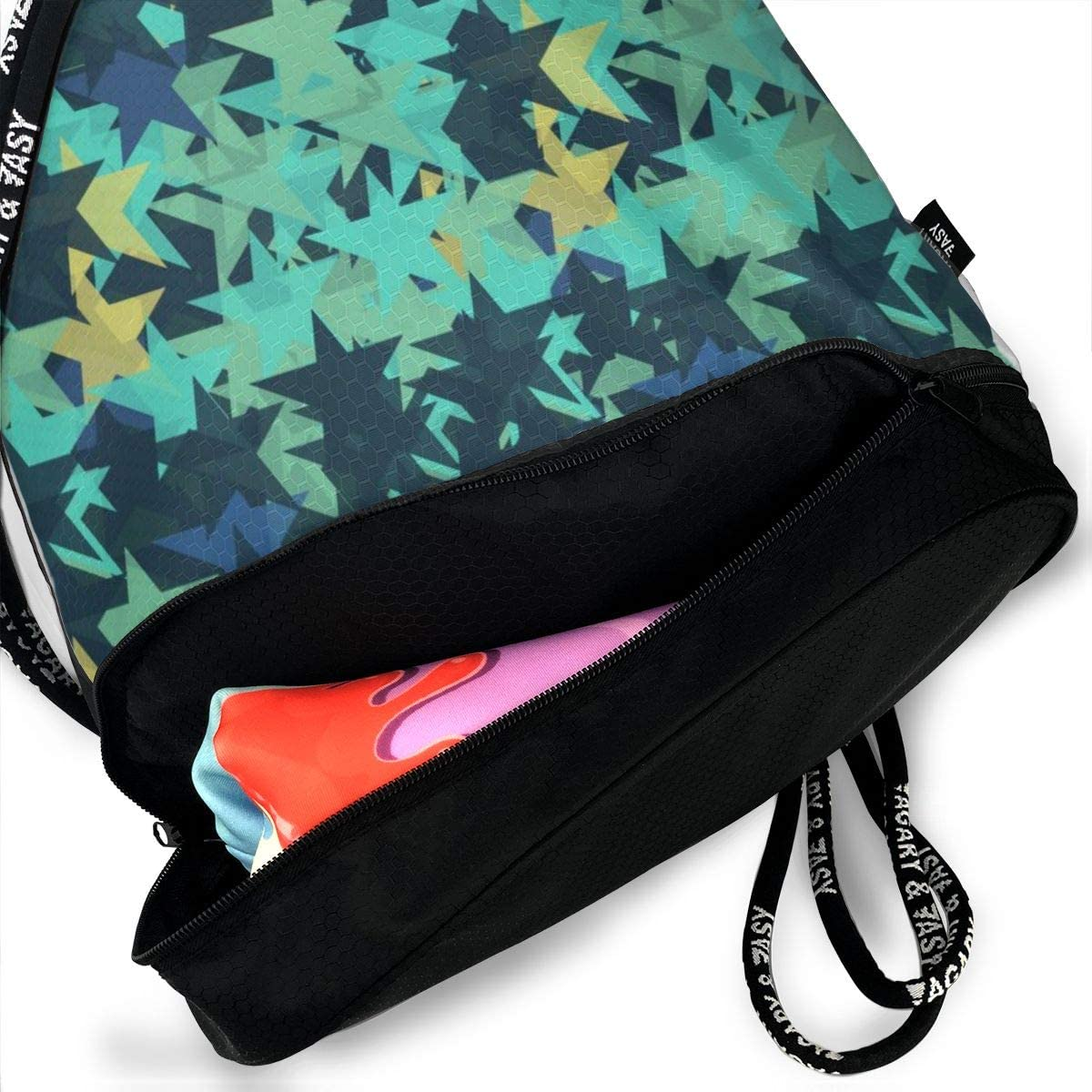 Lightweight Waterproof Large Storage Drawstring Bag For Men /& Women Blue Star Cinch Backpack Sackpack Tote Sack