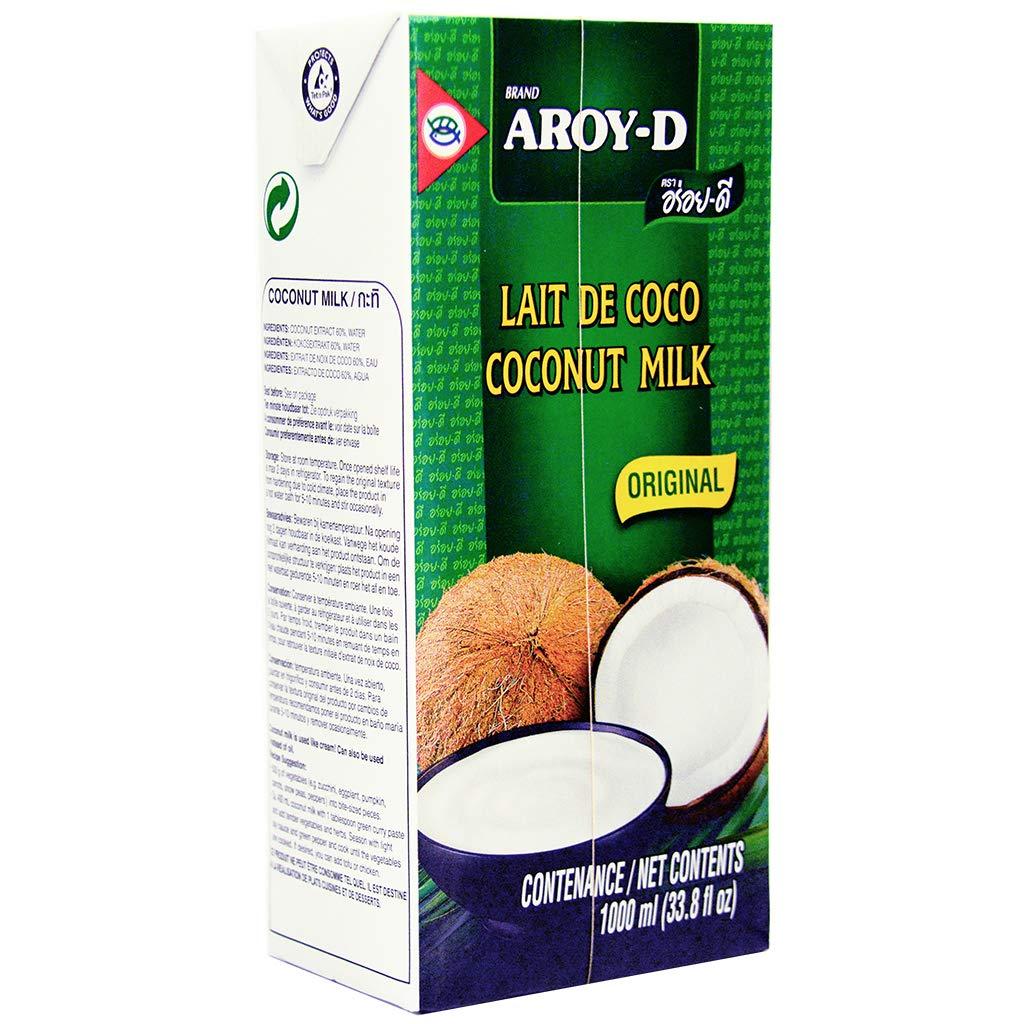 Aroy-D Coconut Milk, 33.8 Fluid Ounce (Pack of 6)