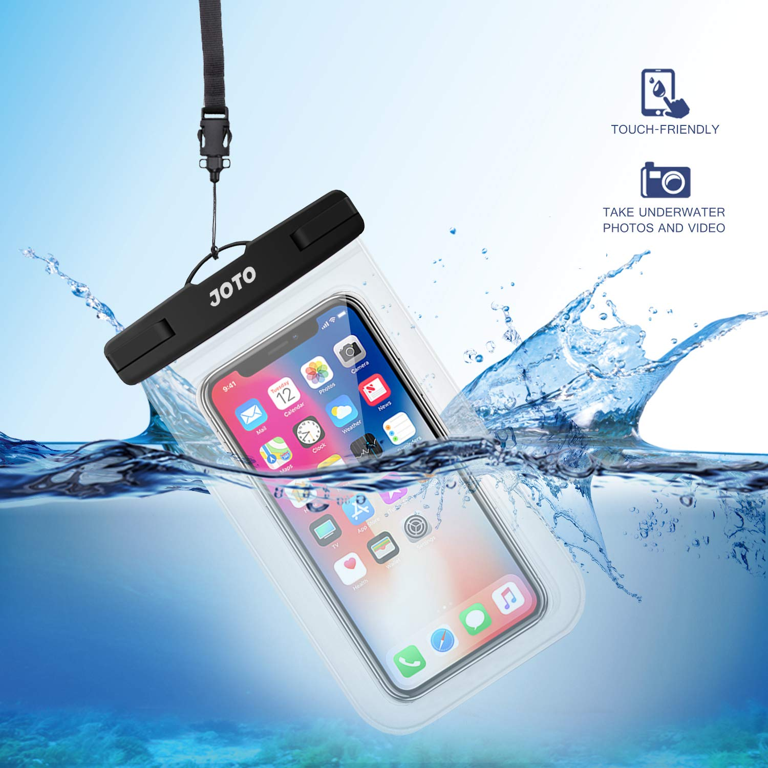 Amazon.com: JOTO Universal Waterproof Case, IPX8 Cellphone ...