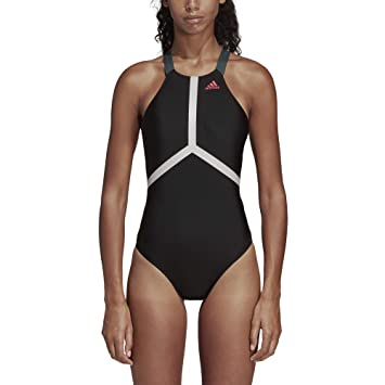 54d9cee09d adidas Women s Athly V Solid Swimsuit  Amazon.co.uk  Sports   Outdoors