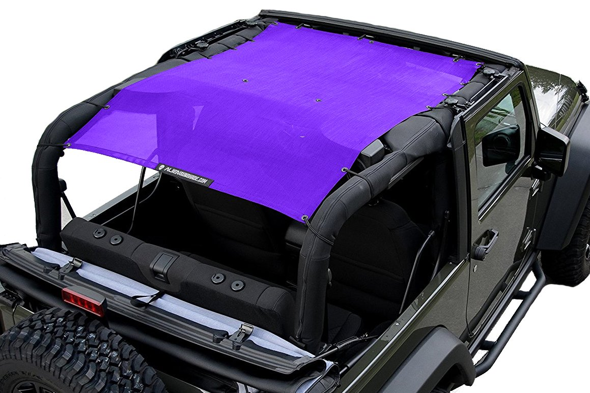 2007-2017 Tank ALIEN SUNSHADE 2-Door Jeep Wrangler Mesh Shade Top Cover with 10 Year Warranty Provides UV Protection for Your JK