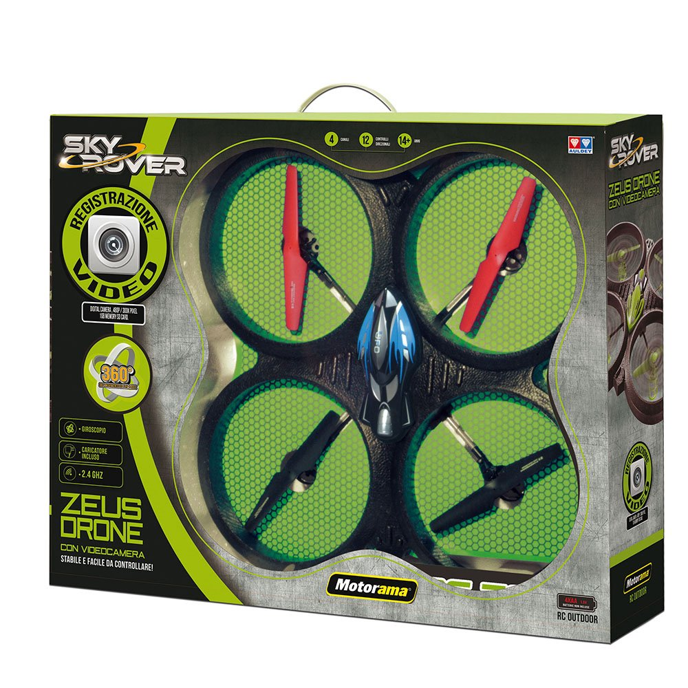 80% de descuento Mac Due Italy Italy Italy Motorama - Dron Zeus con videocámara, giroscopio, 4 Canales, Mod. 502521  marca en liquidación de venta