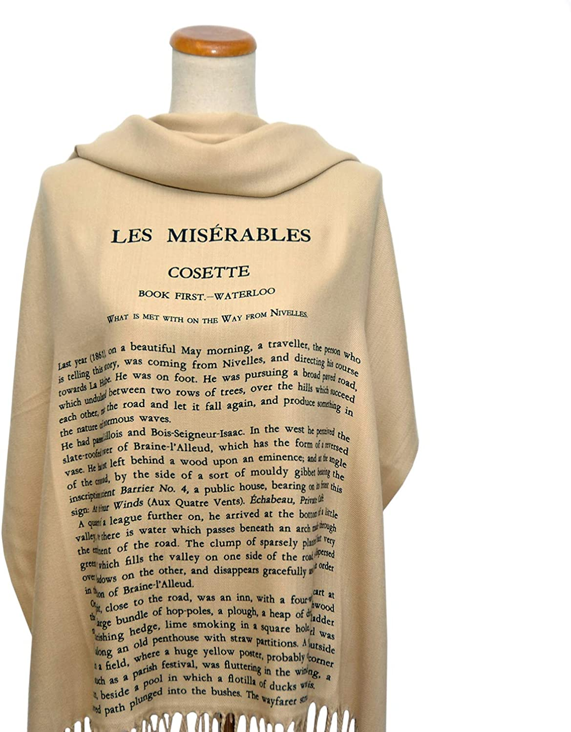 Les Misérables by Victor Hugo Shawl Scarf (English version): Clothing