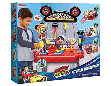 .com: mickey & the roadster racers pit crew workbench: toys ...