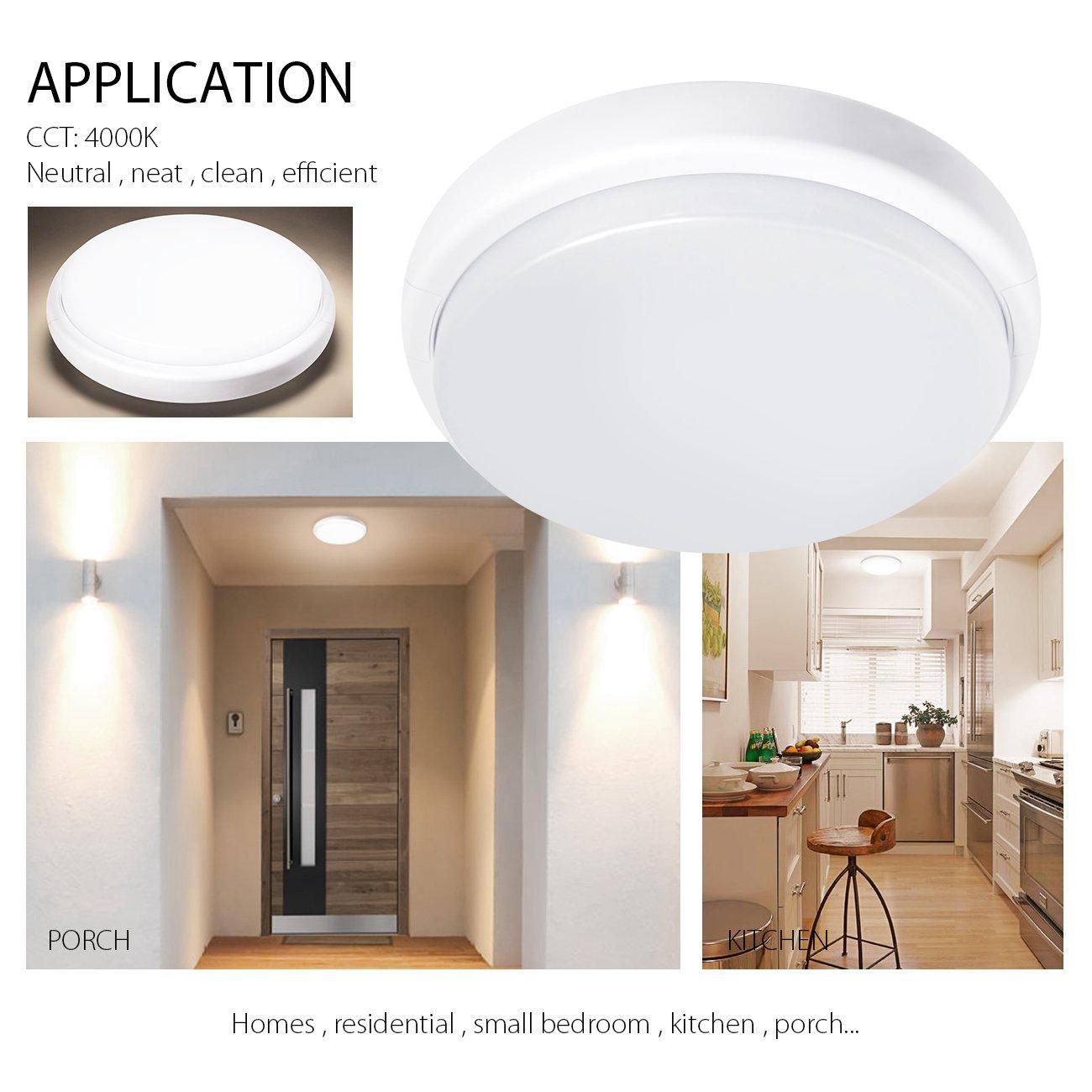18W runde LED-Wand- und Deckenleuchte in Weiß, 4000 K Neutralweiß ...