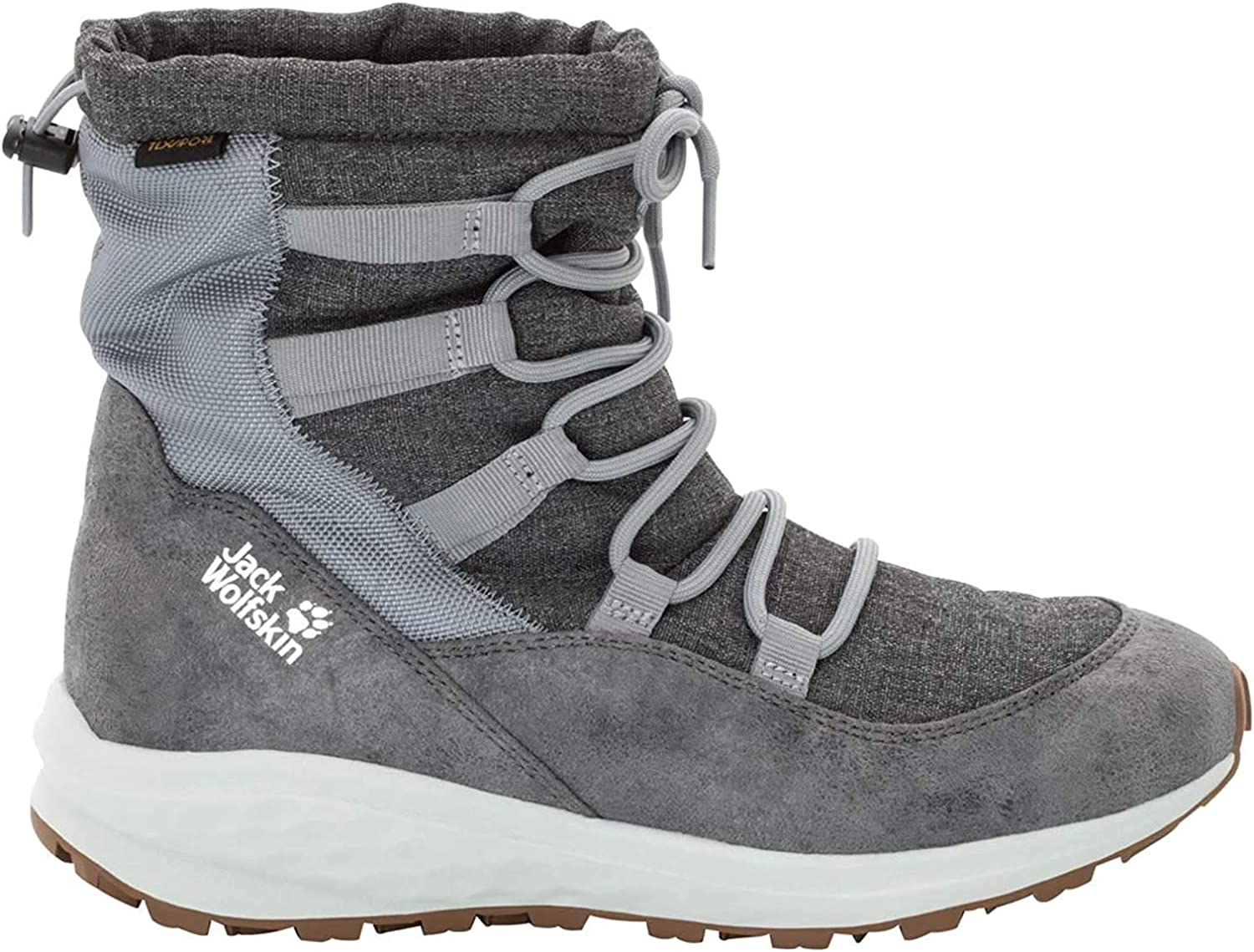 Jack Wolfskin Women s Nevada Texapore MID Waterproof Winter Boot with Fleece Lining Snow, Grey White, US Women s 11 D US