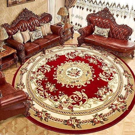 Amazon.com: Alfombra para el hogar, diseño floral redondo ...