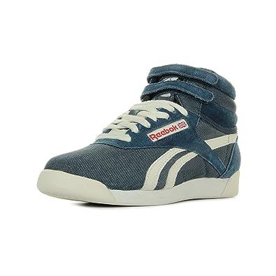 0230f85afa777 Reebok Freestyle Hi V46452 Casual Women s Trainer Blue Blue Size  3.5