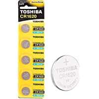 Toshiba CR1620 3V Lithium Coin Cell Battery Pack of 5 batteries