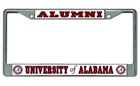 Amazon.com : University Of Alabama Alumni Chrome License Plate Frame ...