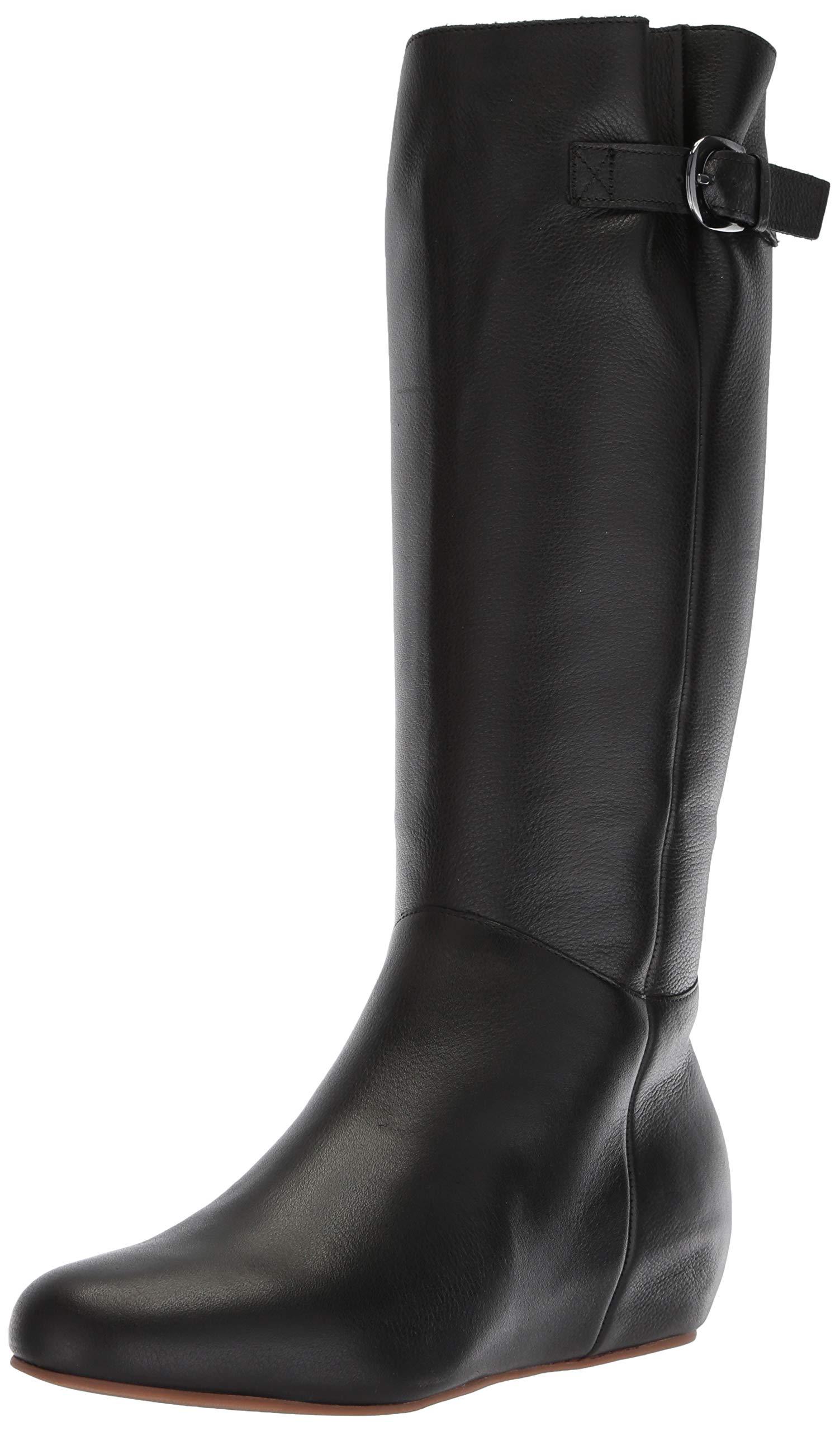 Blondo Women's Monica Knee High Boot, Black Leather, 8.5 M US by Blondo