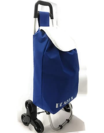 Dealux - Carro Shoppy Tris de color azul con seis ruedas