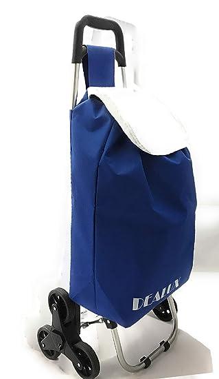 Dealux - Carro Shoppy Tris de color azul con seis ruedas: Amazon.es: Hogar