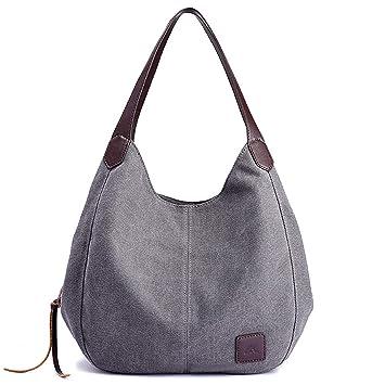 0ef3363cafe5d Canvas Handtasche Fashion Damen Schultertasche Multi-Beutel Tasche  Henkeltaschen Shopper