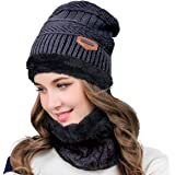FATHER.SON ニット帽 メンズ レディース兼用ネックウォーマー キャップ 二つ編みセット 暖かい アウトドア 冬 おしゃれ 防寒対策