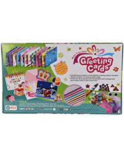 Buy making greeting cards with creative materials book online at low ekta greeting cards decoration material kit for kids 5 years boysgirls m4hsunfo