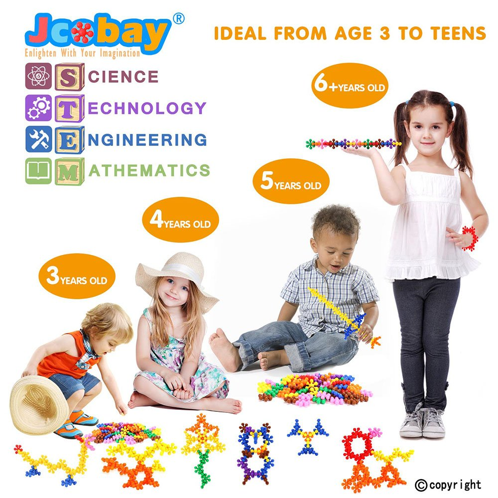 Jcobay Puzzles for Kids Boys Aged 3+ Interlocking Building Blocks Preschool Educational Toys Solid Plastic Toddler Games Learning Stem Toy Construction Building Toy Set Gifts with 90 PCS for Girls