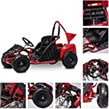 FIT Right 2020 Baja-X 48 Volt 1000 Watt Brushless Electric Go Kart, 3 Speeds Setting Up to 20 mph with Forward and…