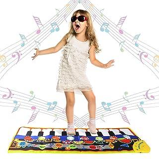 Swonuk 19 Tasti Tappetino per Pianoforte Tappeto Musicale Bambini Tastiera Danza Stuoia Tocco Mat 110 * 36cm