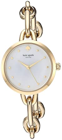 3b90cf17527 Amazon.com  kate spade new york Women s Metro Chain Analog-Quartz Watch  with Stainless-Steel-Plated Strap