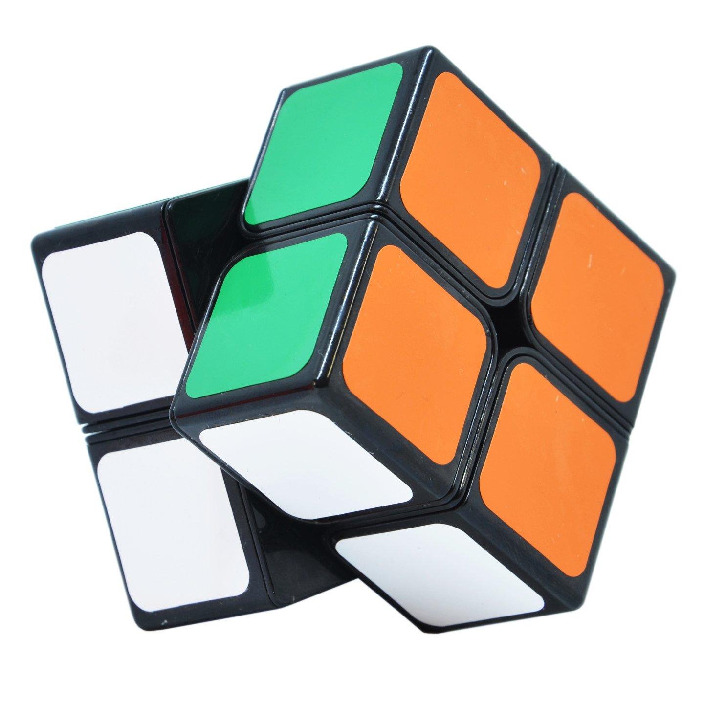 Maomaoyu Speed Cube 2x2 2x2x2 Smooth Magic Cube 3D Puzzle Twist Brain Teasers Toy (Black)